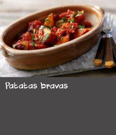 Patatas Bravas - Recipes For Tomato - Patatas Spicy Tomato Sauce, Potato Recipes, Chili, Soup, Potatoes, Yummy Food, Ethnic Recipes, Ideas, Tomato Gravy