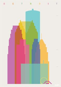 Shapes of Detroit. Accurate to scale  - Yoni Alter