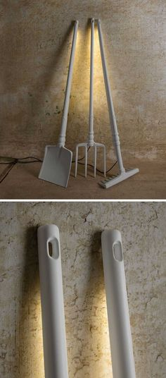 Matteo Ugolini has designed these fun and whimsical outdoor lights that represent forgotten tools.