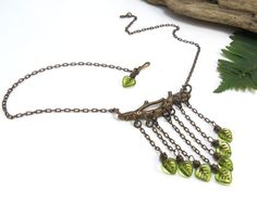 Bohemian Jewelry Woodland Elven Jewelry  Green by SmokySpirit, $36.00