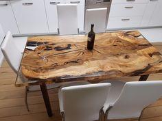 Unique 6 person epoxy resin table   eBay