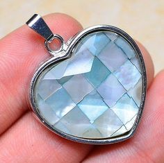 Faceted Shell Heart Pendant - pinned by pin4etsy.com
