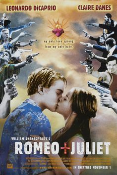 Romeo + Juliet + 1996 + Baz Luhrmann +  Leonardo DiCaprio + Claire Danes. Love Baz's contemporary interpretation. And Leo and Claire did this justice.