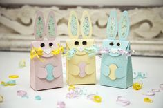 Bunny Gift Bags by Ashley Cannon Newell for Papertrey Ink (February 2014)