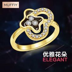 Find More Rings Information about New Classic Micro Carat Gold Butterfly Hot…
