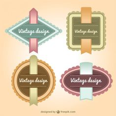Retro Style Labels Set Free Vector