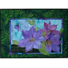 Purchase Clematis Vine by Black Eyed Susan at QuiltersWarehouse where your favorite Applique Floral Quilts including Clematis Vine are available. Clematis Flower, Clematis Vine, Abstract Landscape Painting, Landscape Paintings, Flower Quilts, Landscape Quilts, Black Eyed Susan, Applique Quilts, Quilt Blocks