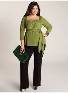 Ashley Infinity Tunic in Moss Green. IGIGI by Yuliya Raquel. www.igigi.com