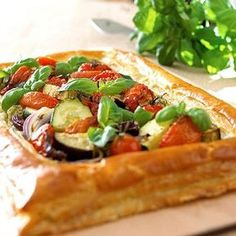 Mediterranean Tart with Basil, Red Onion and Sundried Tomatoes recipe.