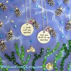 """The """"squishy"""" necklaces in their natural habitat  To see these necklaces in my shop visit: http://etsy.me/1p6JIGU"""