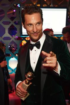 Matthew McConaughey at NBC's Golden Meets Golden after party. [Photo by Jason Kempin/Getty Images for NBCUniversal]