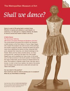 Shall We Dance? | How does movement appear in a still work of art? Since ancient times, artists have depicted the art of dance. #kids #education #metkids