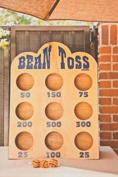 bean bag toss for the reception