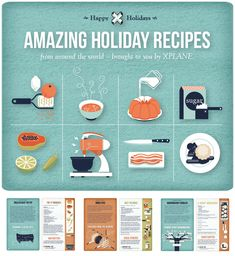 Holiday Recipes from around the world #infographic #food #food infographics Pinned by www.ActivaNaturals.com