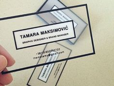Personal Business Cards by Tamara Maksimovic