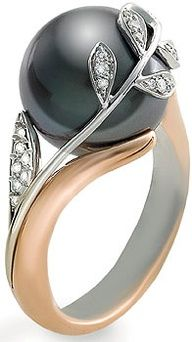 black pearl with an all silver ring and we will call it a deal!