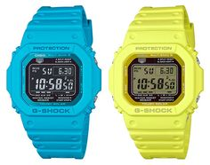 Casio G-Shock's GW-M5610MD series retro model marked by bright pastel tones.