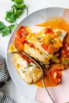 Low Calorie Recipes, Ww Recipes, Fish Recipes, Seafood Recipes, Cooking Recipes, Healthy Recipes, Dutch Oven Recipes, Pescatarian Recipes, Seafood Dinner