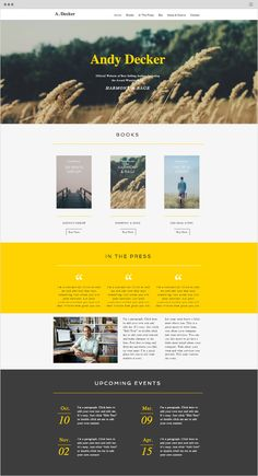 Author Site Website Template