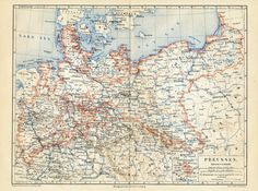 1874 German map of Prussia.  My family came from here -- a place in Prussia called The Village Gruchow