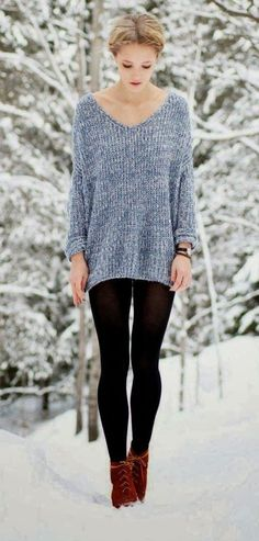 27 Stylish Women Sweaters Outfit for Cold Winter - Ready To Meal Mode Outfits, Stylish Outfits, Stylish Clothes, Fall Winter Outfits, Autumn Winter Fashion, Winter Style, Winter Clothes, Snow Style, Dress Winter