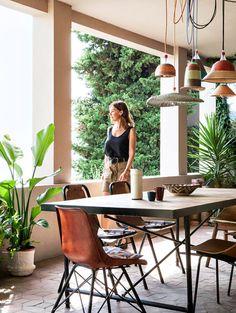Terrasse jungle de la créatrice de Sessùn dans la maison bohème de la créatrice de Sessùn