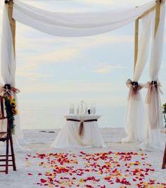 2014 chiffon beach wedding arch, ivory white beach wedding arch.