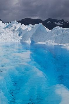 Blue Lagoon on Perito Moreno Glacier, Los Glaciares National Park, Patagonia, Argentina Pin Your Way to South America Places Around The World, Oh The Places You'll Go, Places To Travel, Travel Destinations, Places To Visit, Around The Worlds, Holiday Destinations, Les Continents, Blue Lagoon
