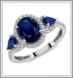 Buy Engagement Ring Online, Top Engagement Rings, Gemstone Engagement Rings, Gemstone Rings, Diamond Stone, Halo Diamond, Blue Nile Jewelry, Blue Sapphire, Sapphire Rings