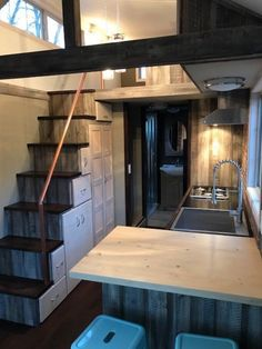 Tiny house design, small room design, best tiny house, small tiny h Tyni House, Tiny House Loft, Small Tiny House, Best Tiny House, Tiny House Living, Tiny House Plans, Tiny House Design, Tiny House On Wheels, Tiny House Movement