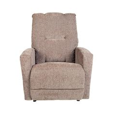 Jesse is not your average recliner. It's an impressive entry-level recliner that is uncomplicated and more contemporary in design. It features a pull-over back, standard chaise seat and footrest, and slightly flared and rounded track arms.