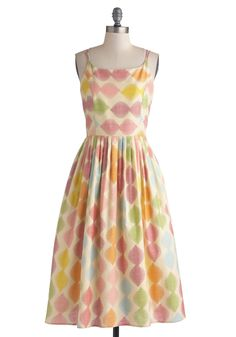 High Socie-tea Dress in Macaron - This would be precious with a cardigan for spring church service!