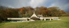 house design by Found Associates, new construction, dry stone & concrete, blending into the surroundings of the Cotswolds