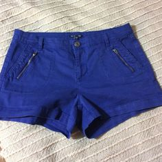 Gap Shorts size 10 (stretch) Cute as can be. GAP shorts with zipper detail on font pickets. Lovely royal blue color. Size 10 GAP Shorts