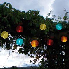 Bonte led-solar-lichtketting met 10 lampions 1522130