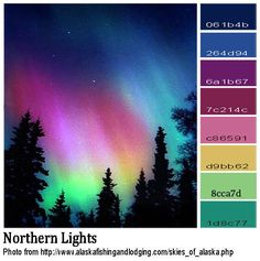 Image result for color schemes aurora borealis