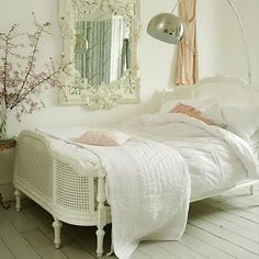 Love the French country style with ivory creams and rattan style bed. Images we like (NB. not a product of Chichi Furniture)
