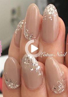 Nails BEAUTY NAILS 7 in 2020 bridal nails pretty nails nail designs - mollie Classy Nails, Stylish Nails, Cute Nails, Pretty Nails, Simple Wedding Nails, Wedding Nails Design, Wedding Nails Art, Wedding Nails For Bride, Glitter Wedding