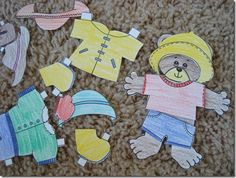 Jesse Bear What Will You Wear? book activities totally tots