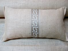 I love love our new trim woven in soft beige and ivory  the price is for a single bolster-pairs available  12 oz burlap fabric one of the best