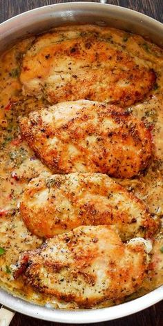 Italian Chicken Pasta Italian Chicken Pasta,CHICKEN RECIPES Chicken Breasts in Creamy White Wine Parmesan Cheese Sauce recipes recipes meals ideas recipes Chicken Breast Recipes Healthy, Meat Recipes, Cooking Recipes, Healthy Recipes, Dinner Recipes, Recipies, Cooking Rice, Dinner Ideas, Cooking Salmon