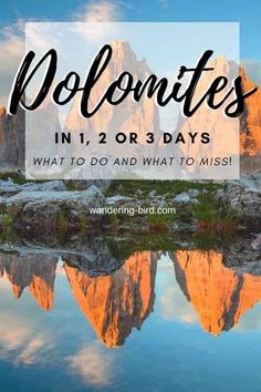 Dolomites Itinerary - the best itinerary for 1, 2 or 3 days in the Dolomites. If you only have time for a quick trip to the Dolomites, Italy, it's good to plan the best things to do- and the things you can miss! This Dolomites itinerary is perfect for summer, autumn winter & includes hiking, lakes, travel maps, routes and more. Dolomites Italy | Dolomites travel tips | Dolomites Autumn | Dolomites Things to do | Dolomites roadtrip | Dolomites Travel where to stay  #dolomites #italy #thingstodo