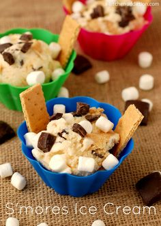 S'mores Ice Cream from www.a-kitchen-addiction.com