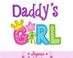 Instant Download Mommy's Girl Applique by JoyousEmbroidery on Etsy