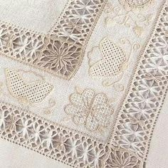 ༺✿༻ Whitework Embroidery