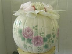 Your place to buy and sell all things handmade Pretty Roses, Rose Bouquet, Shabby Chic Decor, I Am Happy, Pumpkins, Paper Flowers, Hand Painted, Hands, Fall