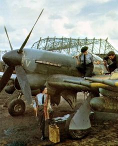 Vintage Planes life-is-aviation - Ww2 Aircraft, Fighter Aircraft, Military Aircraft, Fighter Jets, Luftwaffe, Hawker Tempest, Hawker Typhoon, Photo Avion, Hawker Hurricane