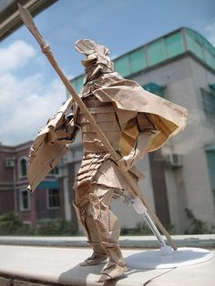 this is sparticus... out of paper. what amazing origami