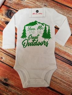 Baby clothes, newborn wilderness shirt, baby shower gifts, you mean and the great outdoors onesie