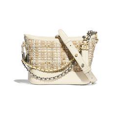 9ca8250893b1 Tweed, Calfskin, Gold-Tone & Silver-Tone Metal Beige & Ivory CHANEL'S  GABRIELLE Small Hobo Bag